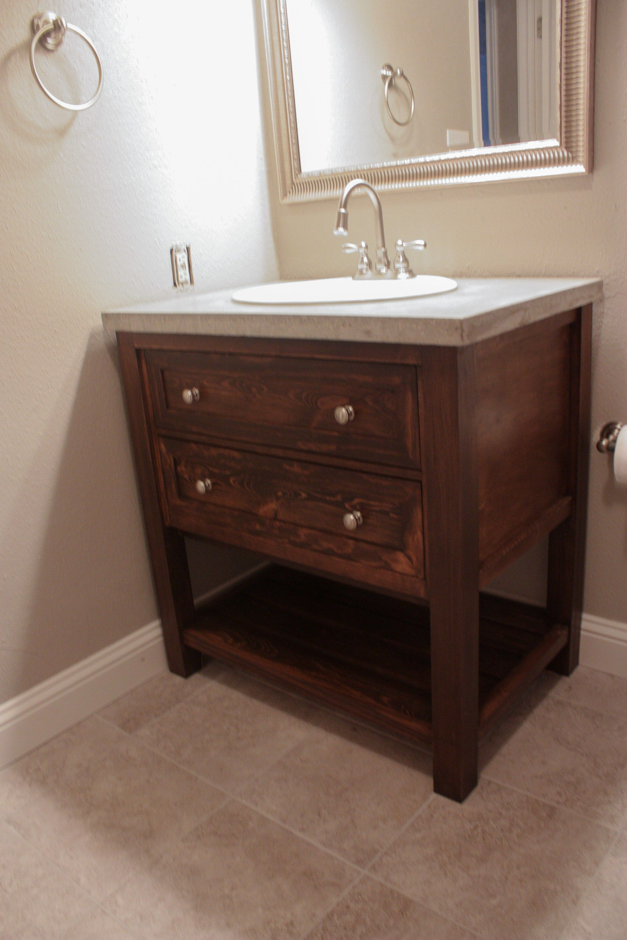 Diy Bathroom Vanity Pottery Barn Knockoff Pottery Barn Vanity Diy Bathroom Vanity Bathroom Sink Vanity