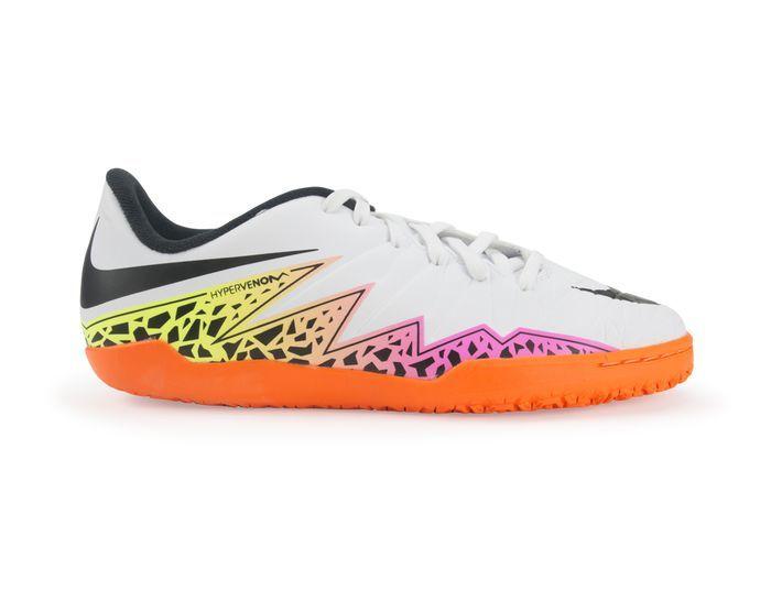f31b36002c4 Nike Kids Hypervenom Phelon Indoor Soccer Shoes White Black-Total Orange  Volt