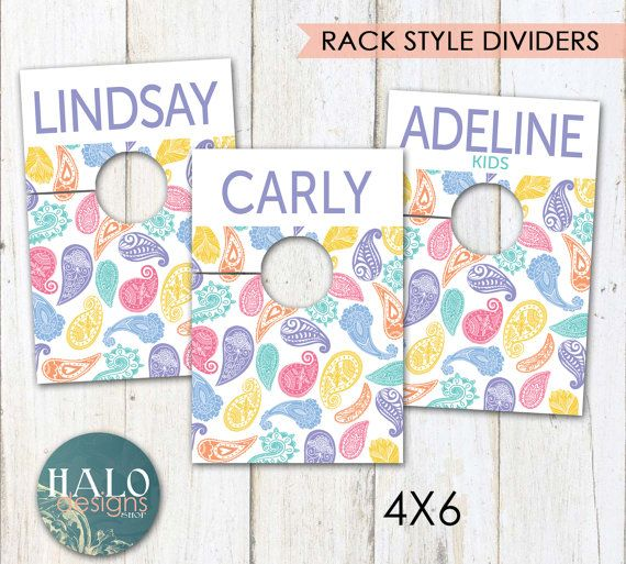 PRINTED Style Rack Dividers  PAISLEY