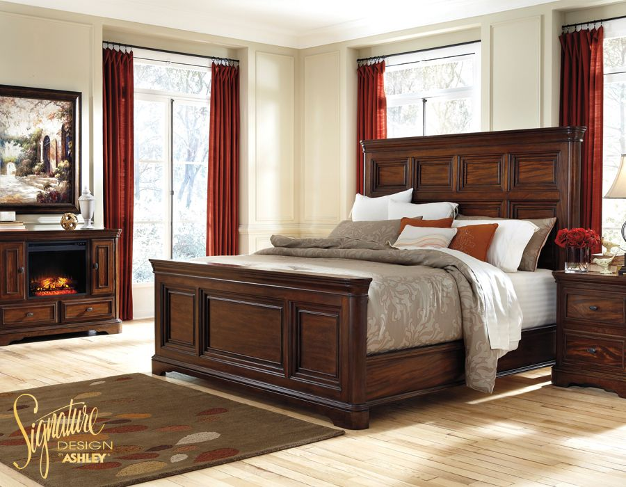 Ashleyu0027s B700 Leximore Bedroom Collection Is Solid And Sturdy With Select  Mahogany And Acacia Veneers.