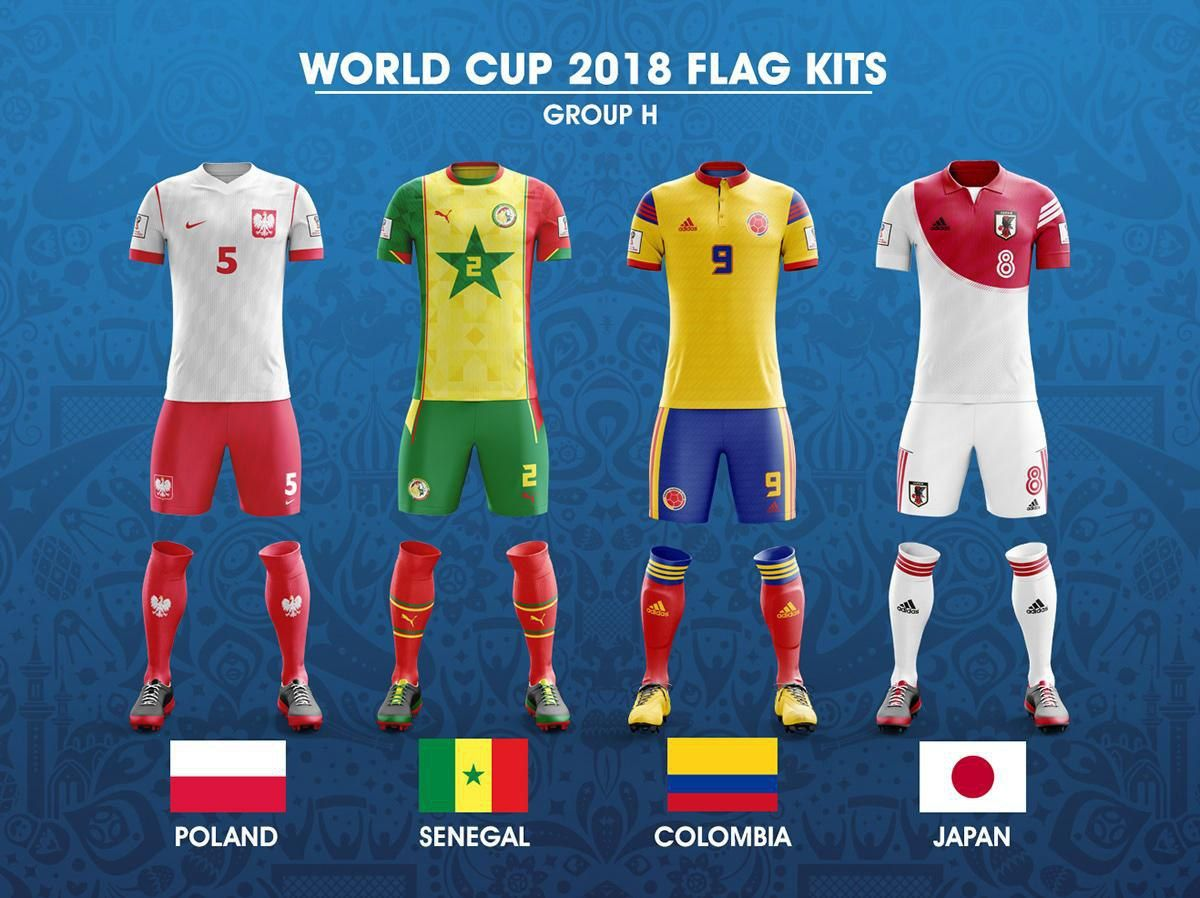 2018 Fifa World Cup Russia Group H Concept Of Forms Based On National Flags Kit Worldcup2018 Worldcup Wc2018 Wcrus World Cup Soccer Kits World Football