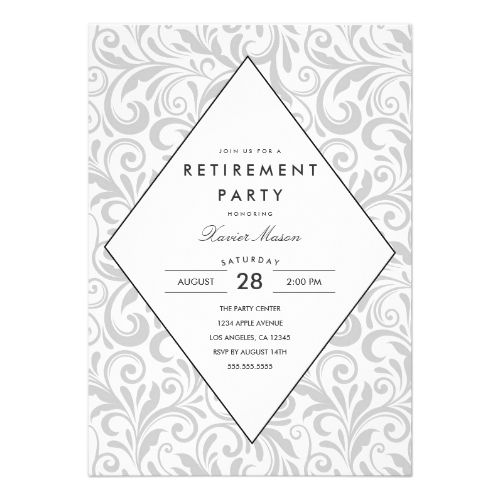 Retirement Party Invitations Simple Elegance  Retirement Party