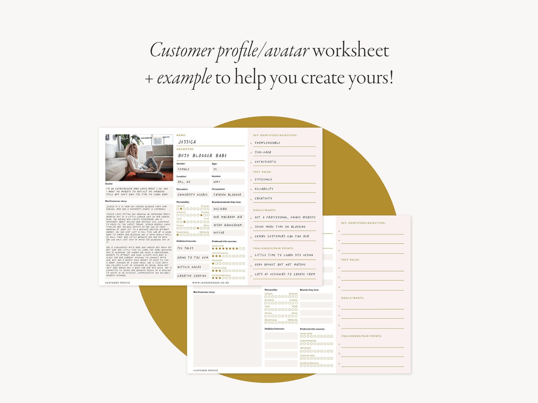 Ideal Target Audience Workbook Customer Profile Avatar Etsy Target Audience Workbook Customer Persona
