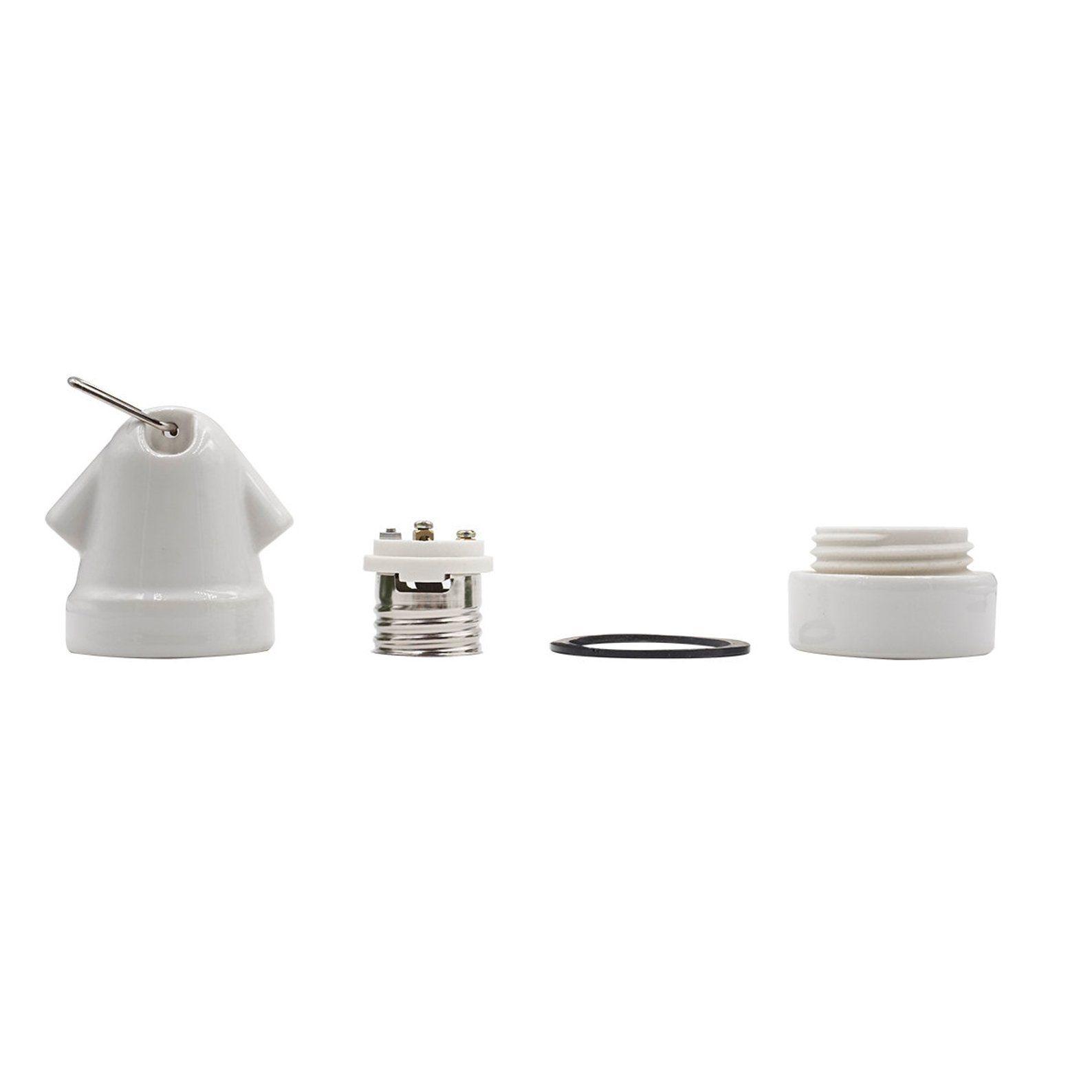 White Porcelain Mushroom Lamp Holder Ceramic Lamp Socket E27 Diy Vintage Style Light Socket Industrial Lighting Lighting Lamp Ceramic Lamp Lamp Socket Mushroom Lamp