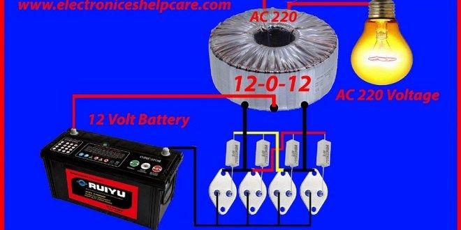 12 volt to 220 volt inverter circuit diagram 12 volt to 220 volt