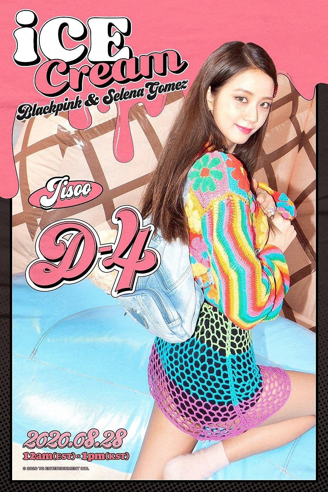 Blackpink Jisoo Ice Cream Poster D 4 In 2020 Selena Gomez Black Pink Kpop Blackpink Jisoo