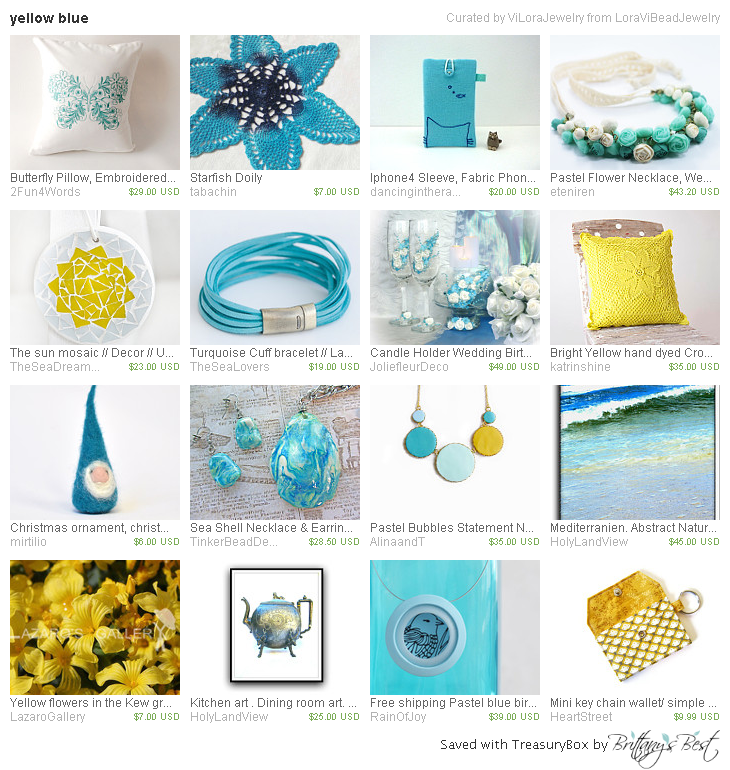 yellow blue by LoraViBeadJewelry includes our Butterfly Pillow! http://etsy.me/1RsPmio  #butterfly #pillow #teal