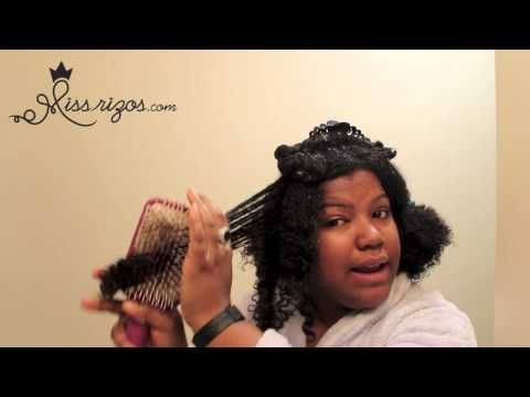 Como cortar las puntas de cabello natural, rizado, crespo - YouTube