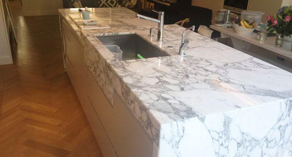 News Kitchen Marble Kitchen Installation White Marble Kitchen