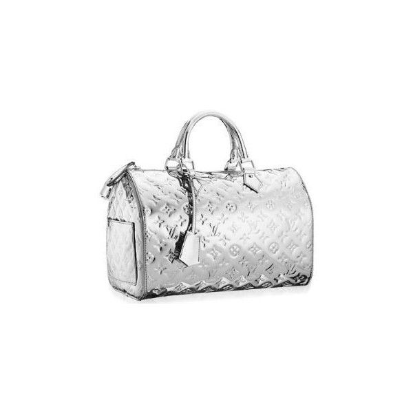 ❤ liked on Polyvore featuring bags, handbags, louis vuitton, borse, silver, silver purse, silver handbag, handbags purses, hand bags ve purse bag