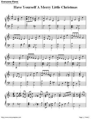 Free Have Yourself A Merry Little Christmas-Christmas Song Sheet Music Preview 1 | Bladmuziek ...