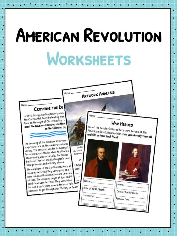 American Revolution facts and 14 ready-to-use American Revolution ...