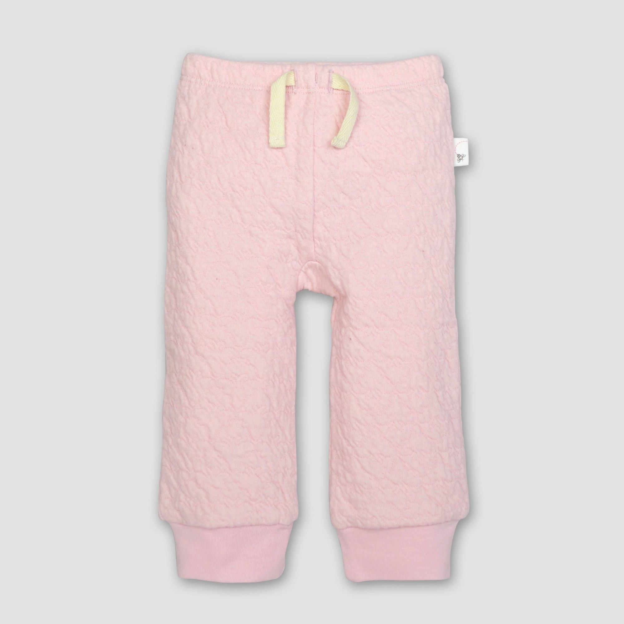 f5400f36e Burt's Bees Baby Girls' Organic Cotton Quilted Bee Pants - Blossom 24M, Pink