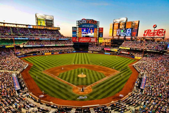 New York Mets Baseball Stadium Photograph Citi Field Color Etsy New York Mets Baseball Mets Baseball New York Mets