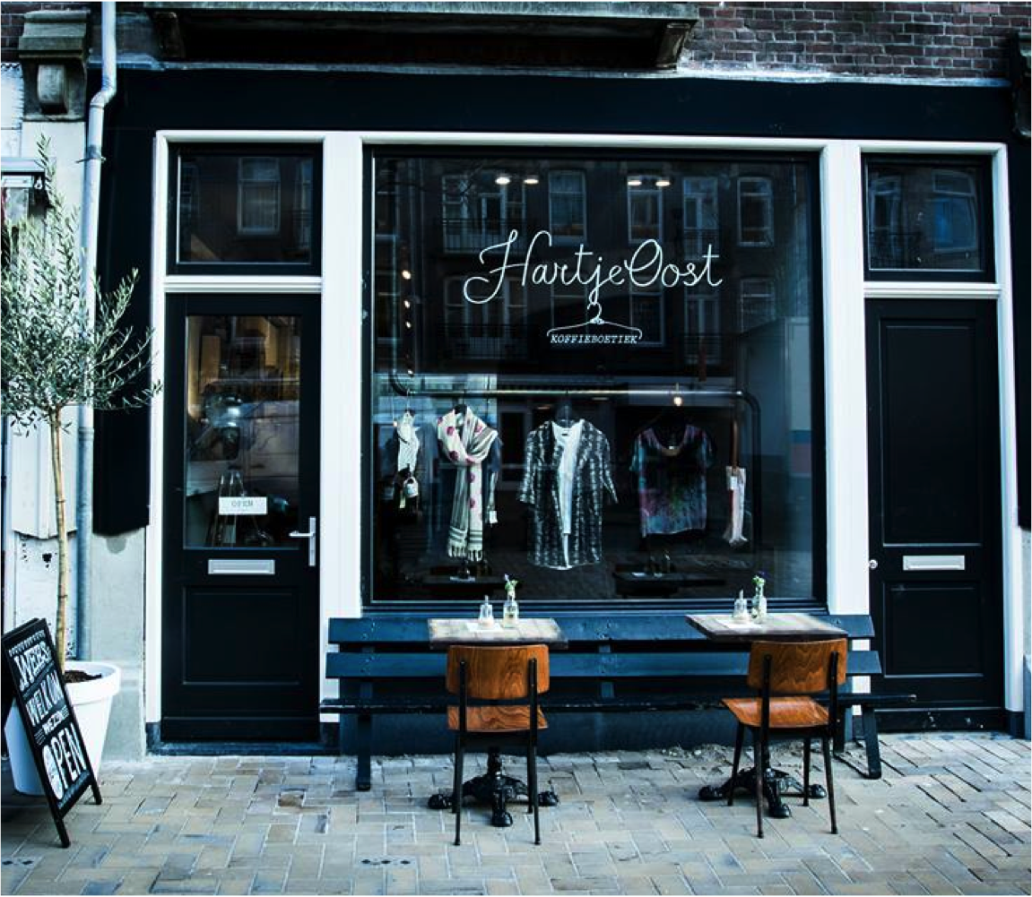 Ultimate combination of clothes, coffee and lunch @ Hartje Oost | #Amsterdam #greetingsfromnl