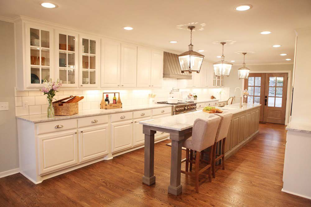 Fixer Upper French Country Reno Fixer Upper Kitchen Kitchen Layout Kitchen Island With Seating