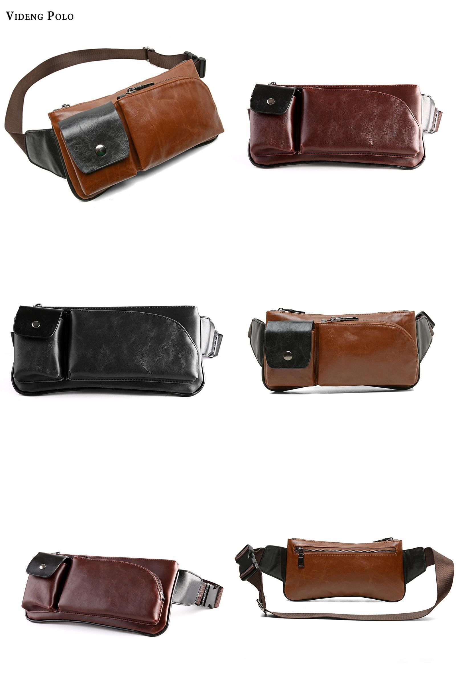 4a110c95c70 ... Mens Bag  more photos 289e9 2983e Visit to Buy VIDENG POLO Men Chest Bag  Brand New Vintage Leather ...