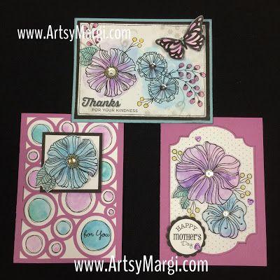 Artsy Margi : Wavy Blooms and Watercolor