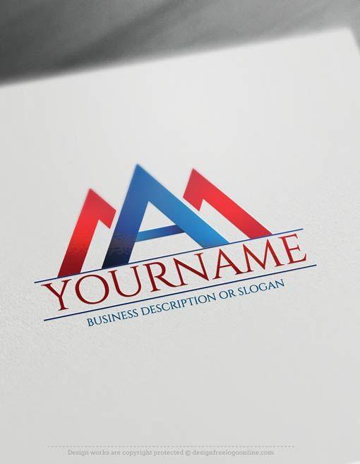 Free Letter Logo Maker A logo A Initials Logo