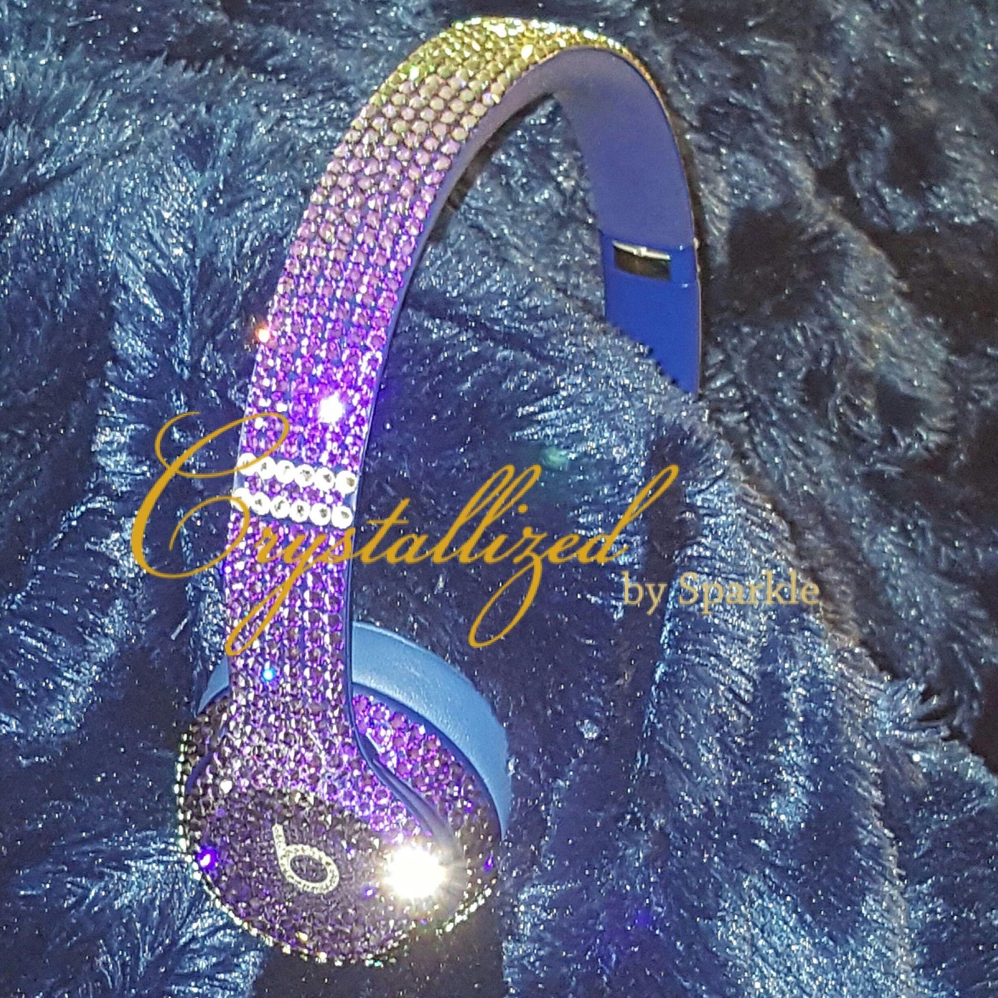Swarovski Crystal Bling Beats by Dre Solo 2 Headphones