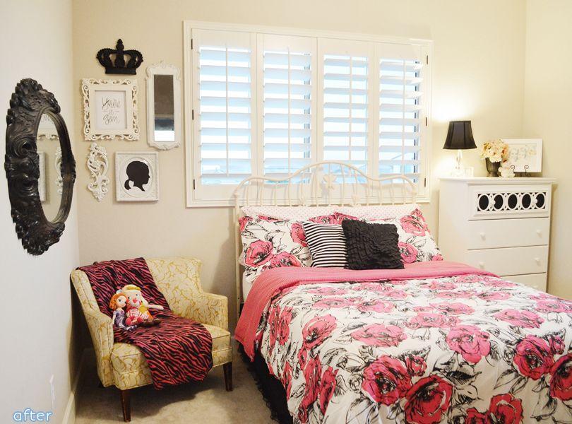girl bedroom makeover after teen vogue bedding |betterafter ...