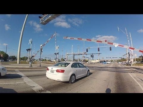 Funny Driver Vs The Railway Crossing - #funny #fail