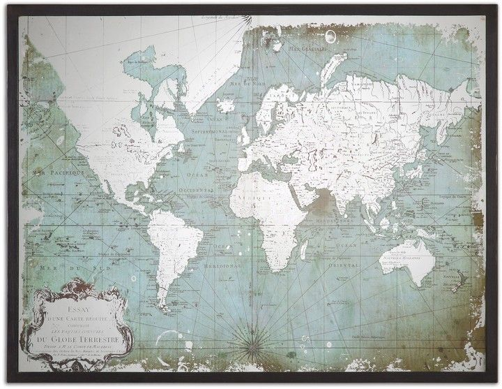 World Map Framed Artwork   Map frame and Products