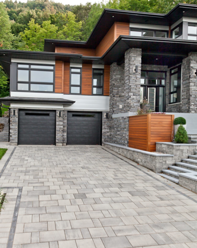 Pavers Vs Asphalt House Designs Exterior House Exterior Modern House Exterior