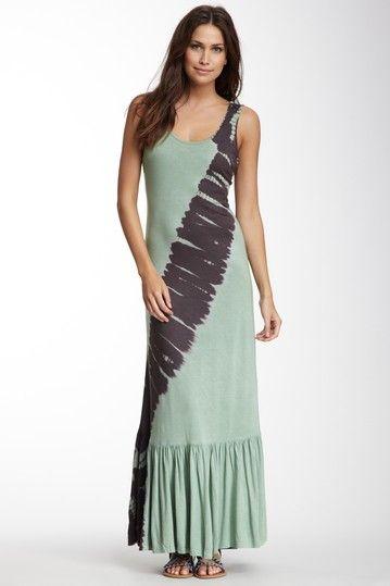 Tie dye tank maxi dress