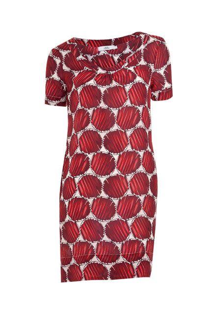 Dank zarter Seide fühlt sich dieses Kleid wunderbar weich an auf der Haut und sorgt für einen frischen Sommer-Look.-rot-creme von 0039 ITALY bei OUTLETCITY.COM bestellen.