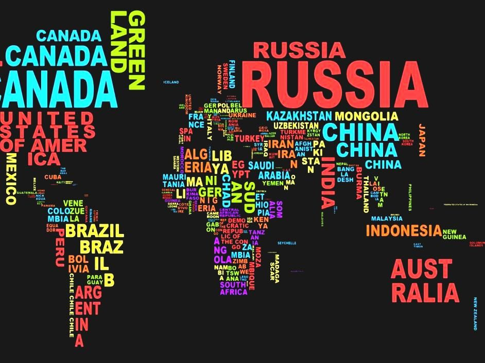 World Map Countries High Resolution Country Name Desktop Wallpaper - World map with country names high resolution