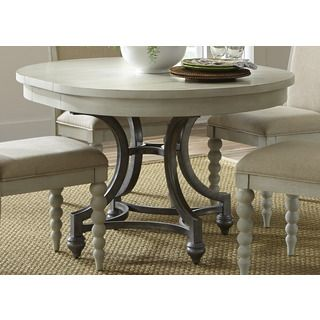 cottage harbor dove grey round dinette table by liberty cottage
