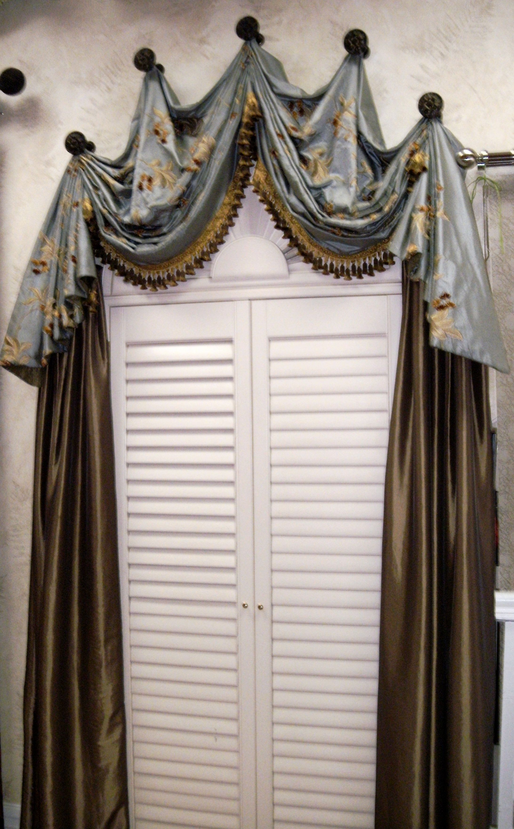 Window treatment ideas for arched windows  dream interiors has its own drapery workroom and can make custom