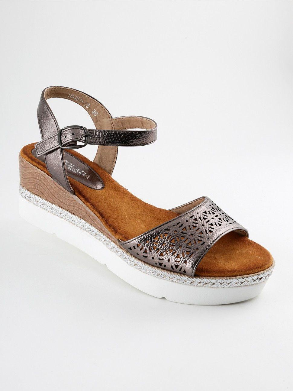 2f13af3d12 Sandali zeppa con platform | scarpe | Zeppe, Sandali e Sandali con ...