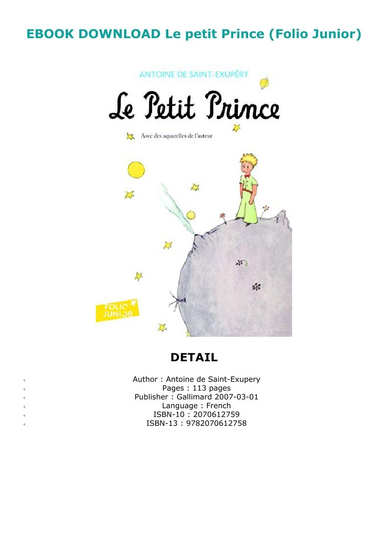 Petit Prince French Pdf