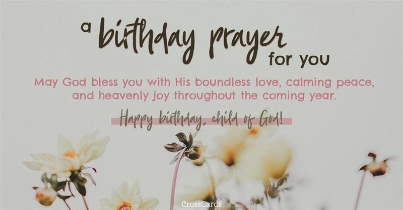 Free A Birthday Prayer ECard