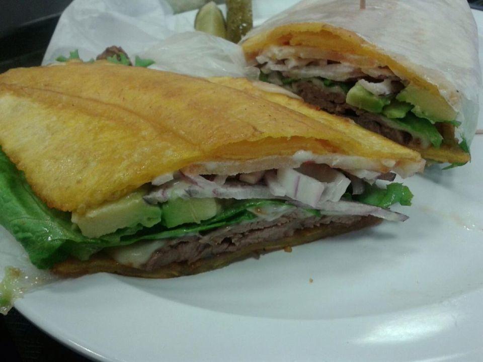 The Wedge Sandwich Shop @ Yonkers. El Jibarito sandwich. So delish.