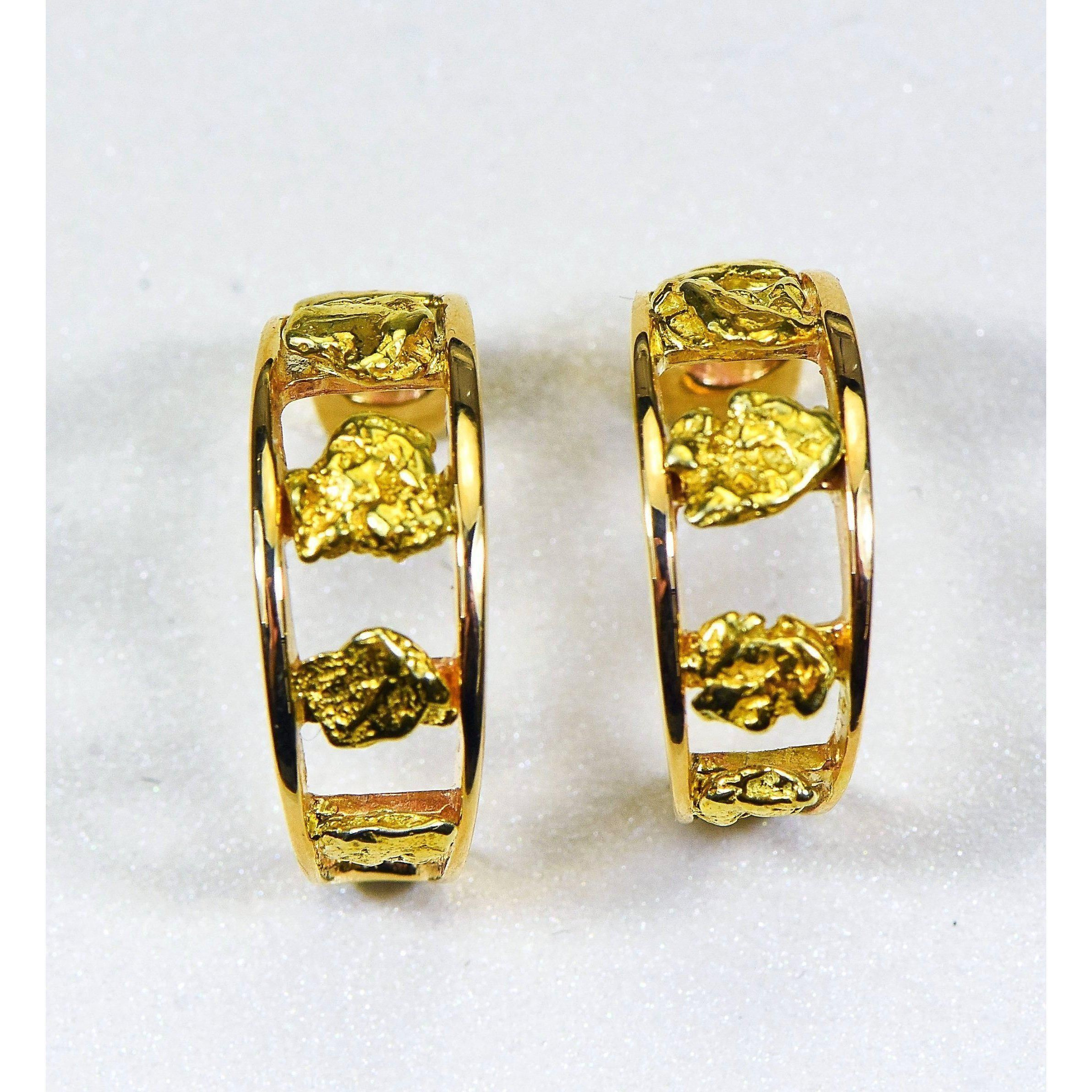 Gold Nugget Earrings Orocal Eh20 Genuine Hand Crafted Jewelry 14k Gold Casting In 2020 Gold Nugget Jewelry Gold Nugget Natural Gold Nugget