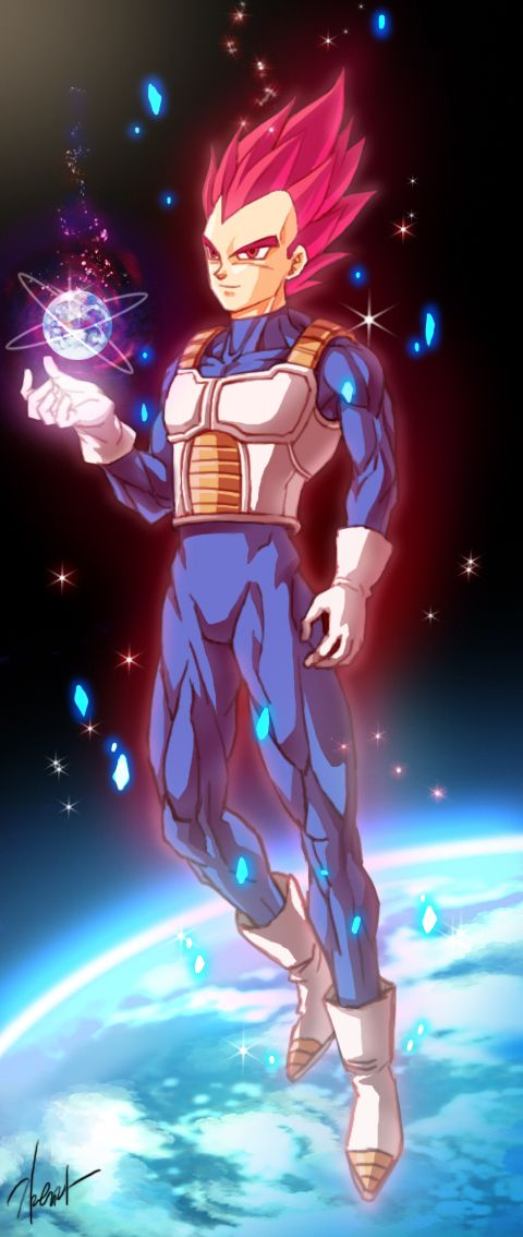 Super saiyan God Vegeta by GoddessMechanic2 on deviantART