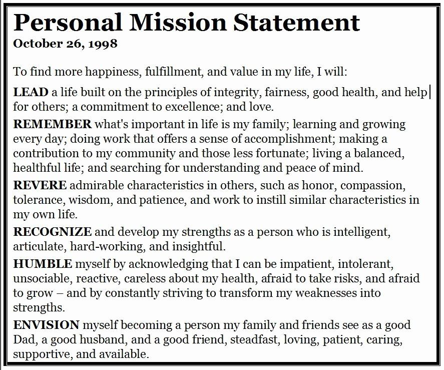 Personal Vision Statement Template Awesome Mission In 2020 Examples Example Of Journalism Statements