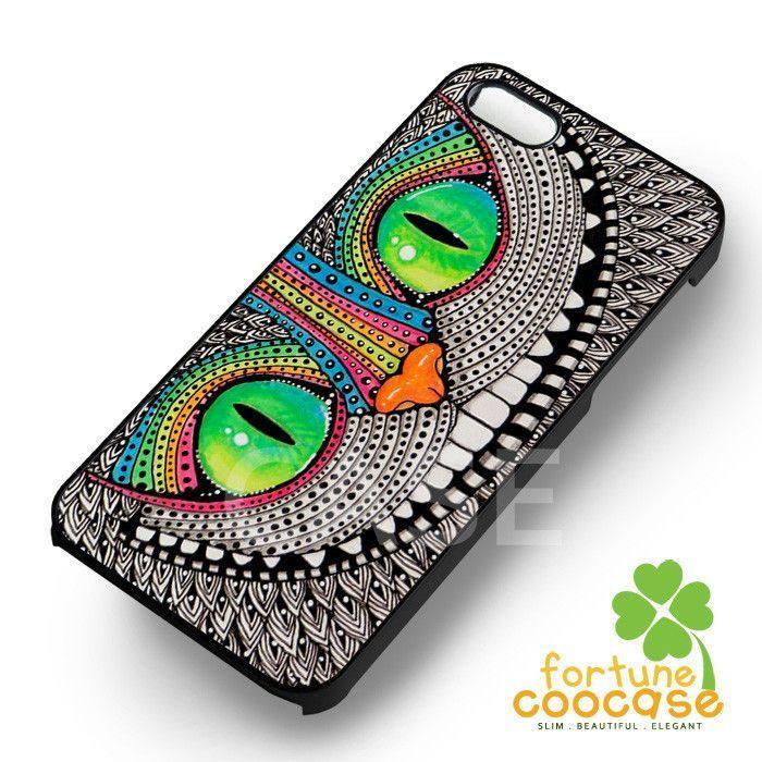 Disney alice in wonderland aztec cheshire cat -wndh for iPhone 6S case, iPhone 5s case, iPhone 6 case, iPhone 4S, Samsung S6 Edge
