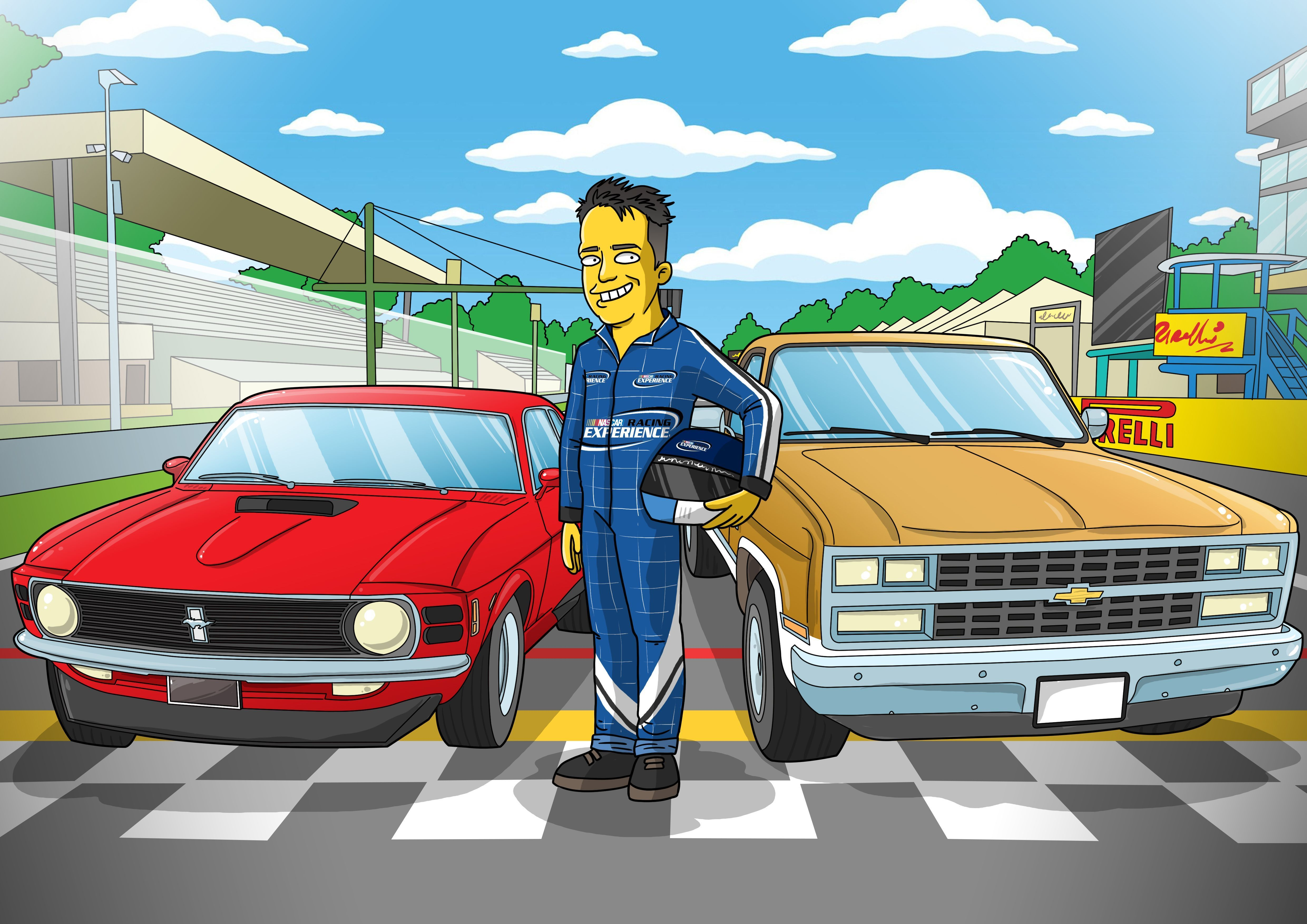 39+ Simpsons racing info