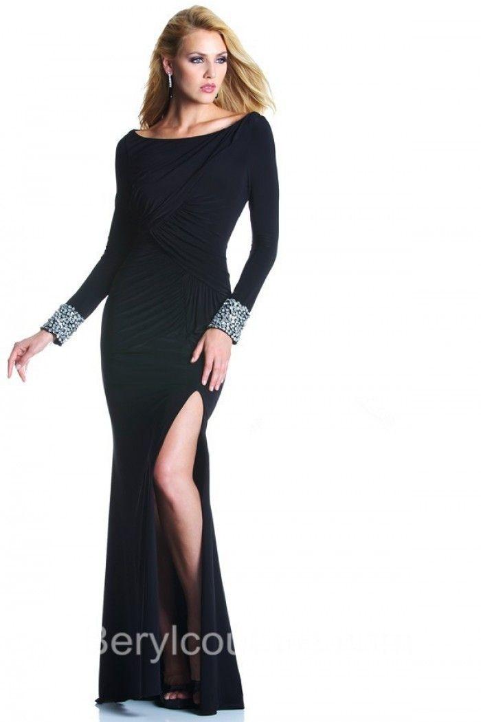 Long Black Transparent Night Dresses