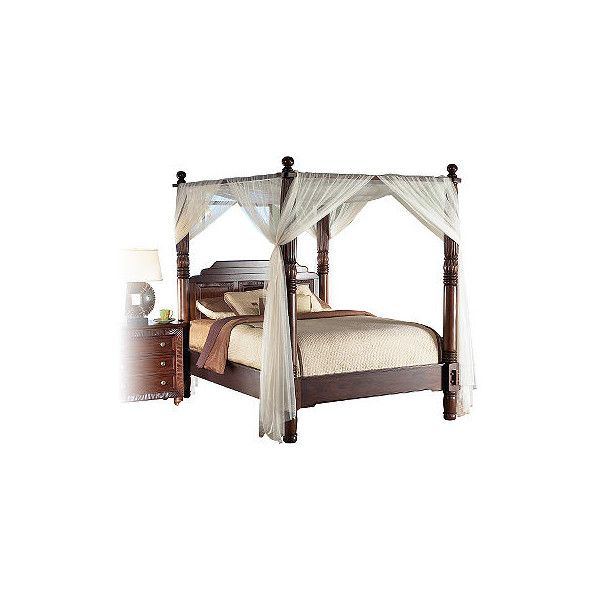 Cindy Crawford Home Malibu Dark Canopy 4 Pc King Bed Rooms To Go Beds 1 150 Found On Polyvore Have It