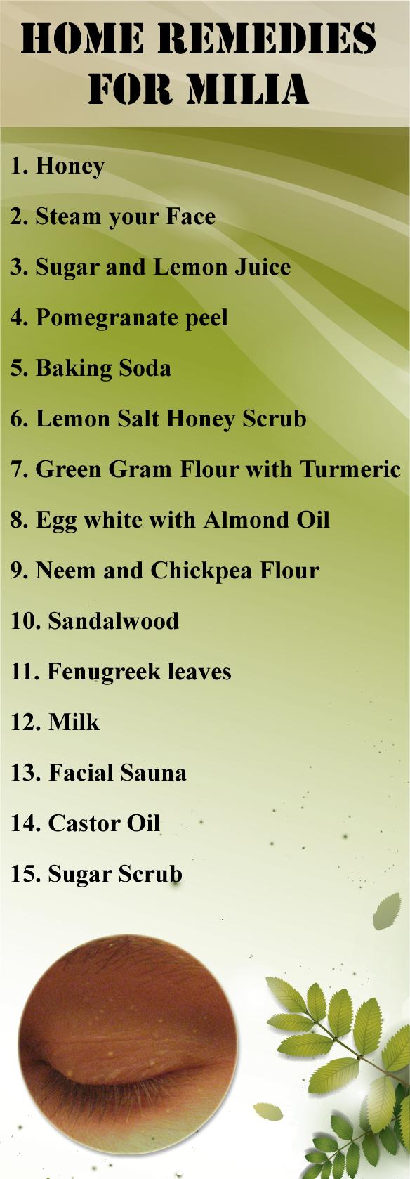 Treatment milia natural 10 Simple