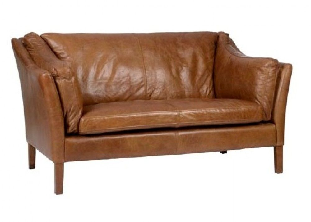 Halo Reggio 2 Seater Leather Sofa Brown Leather Chesterfield