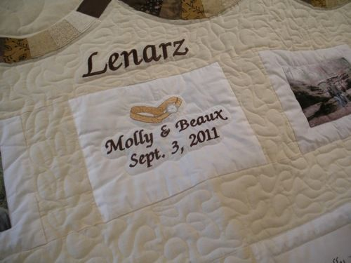CUSTOM PHOTOS DOUBLE WEDDING RING QUILT perfect anniversary gift idea!
