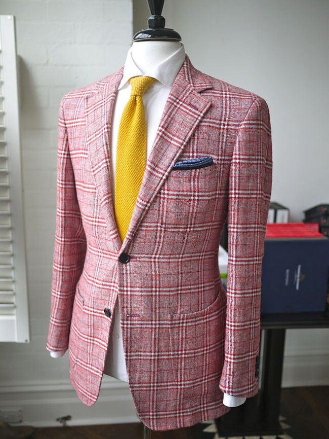 yellow tie checked red rose jacket blazer | thefancy | Pinterest ...