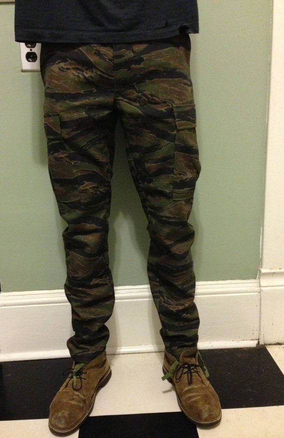 3d9073e4 Custom Slim Tapered Authentic Tiger Camo BDU Pants | cool pitchers ...