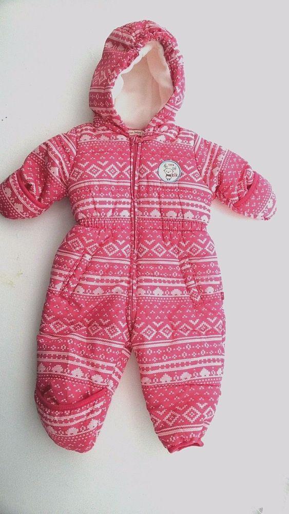 1629782e4 Avenue Baby Girls Snow Suit 3-6 Months Winter Nordic Pattern #Avenue # Snowsuit